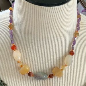 190 Ct. Botswana Agate  Gemstone Necklace